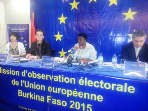 Elections du 29 novembre: Voici ce que dit la Mission d'observation de l'Union européenne