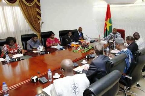 Kosyam: Le Président du Faso face aux  responsables de santé de l'Université Ouaga I  Pr Joseph Ki-Zerbo