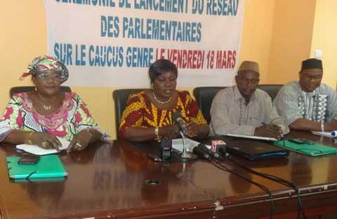 Réseau des parlementaires sur le caucus genre: Relance des activités de la 7e législature