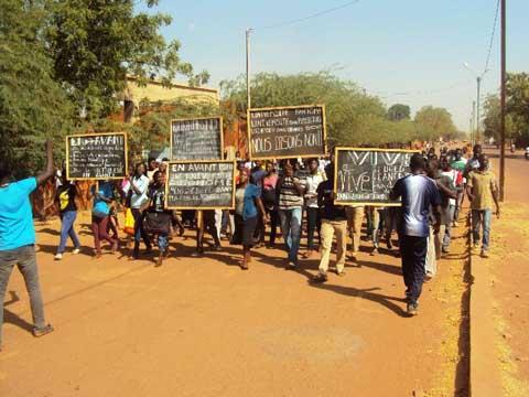 Crise à l'Université de Ouahigouya: les étudiants descendent encore dans la rue