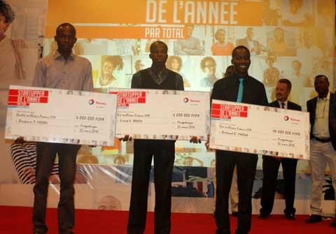 Challenge Startupper de Total Burkina: Bertrand Onadja décroche le premier prix