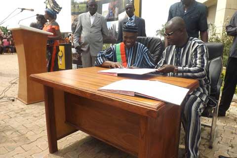 Conseil régional des Hauts- Bassins: Célestin Koussoubé a été installé dans ses fonctions