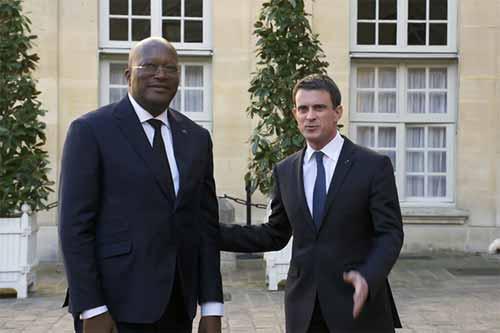 Roch Kaboré reçu à Matignon par Manuel VALLS