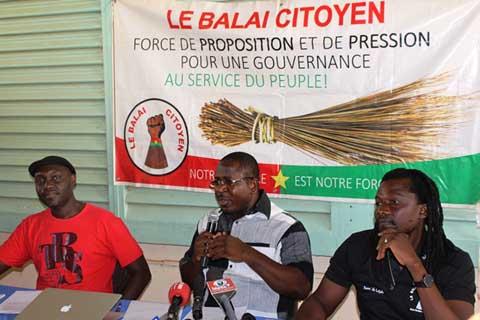 Le Balai citoyen fait le bilan de la Transition et des 100 jours de Roch Kaboré