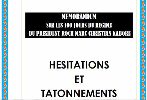 «Hésitations et tâtonnements»: L'intégralité du mémorandum de l'opposition sur les 100 jours de Roch Kaboré