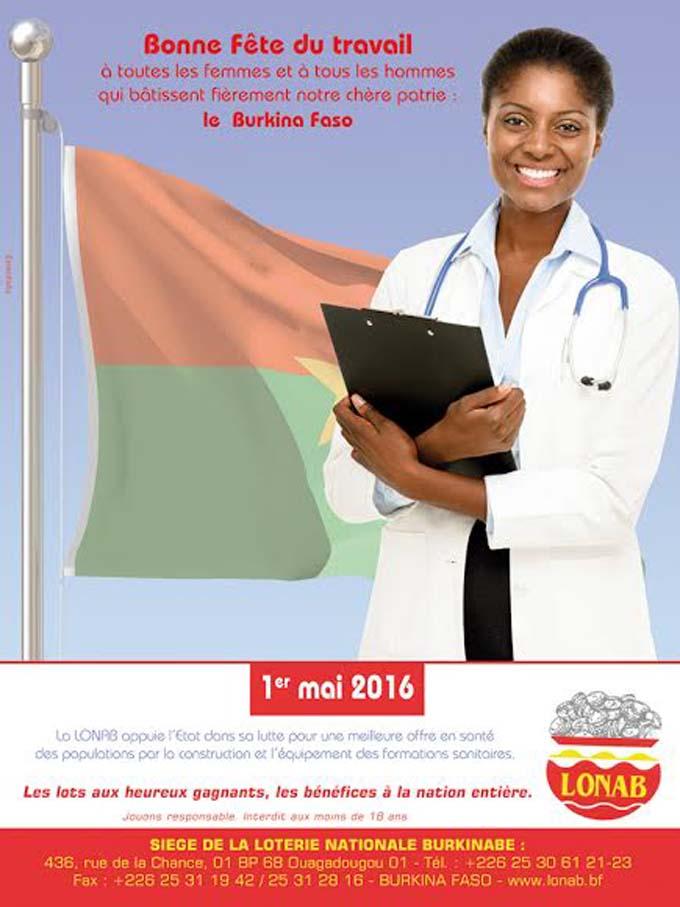 La LONAB souhaite une bonne fête du travail à toutes les femmes et à tous les hommes qui bâtissent fièrement notre chère patrie, le BURKINA FASO