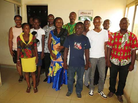 Vie de la rédaction: Nathanaël Ouédraogo, candidat à la mairie de Ouaga, rend visite au Faso.net