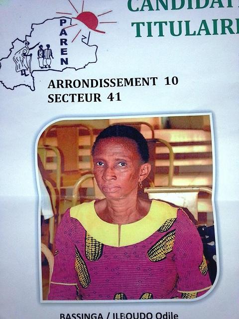 Odile Bassinga , tête de liste du PAREN dans l'arrondissement 10: «Je leur ai dit que je ne voulais plus jouer les seconds rôles»