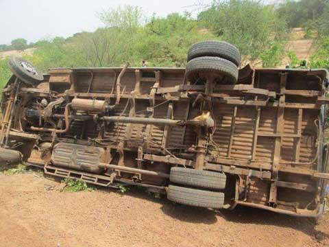 Fada: deux blessés dans l'accident d'un minibus