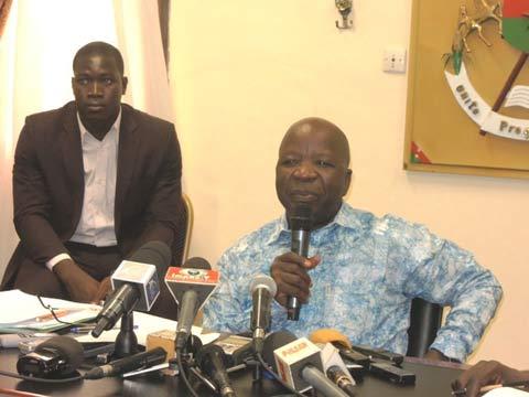 Simon Compaoré, ministre de la sécurité: