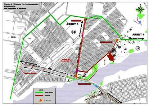 Construction de l'Echangeur du Nord: Des rues seront fermées à compter du 25 mai 2016