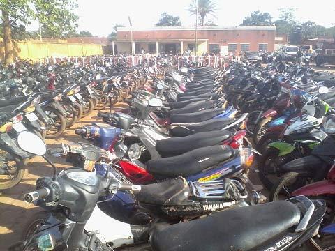Insécurité routière à Ouagadougou: 1224 engins saisis en trois jours par la Police