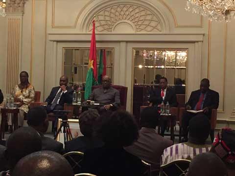 Belgique: Roch Kaboré explique la situation nationale aux ressortissants burkinabè