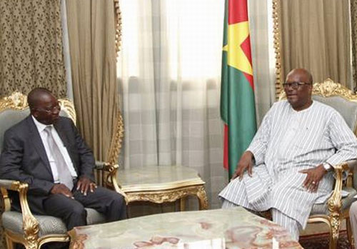 Après le procès Hissène Habré, Gberdao Gustave KAM rend compte au président Roch Kaboré