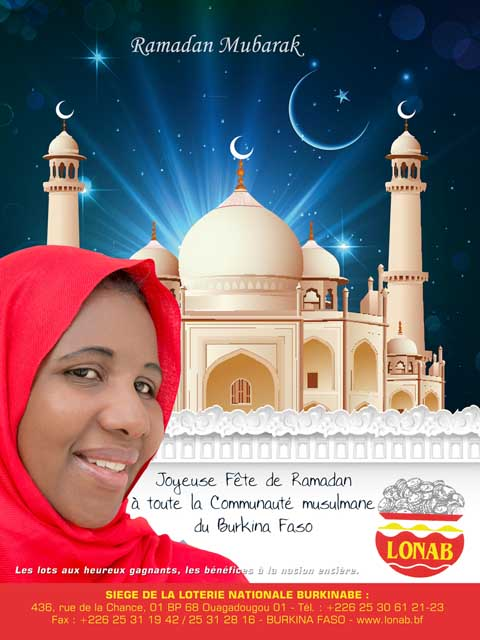 La LONAB souhaite une joyeuse fête de Ramadan à toute la communauté du Burkina Faso
