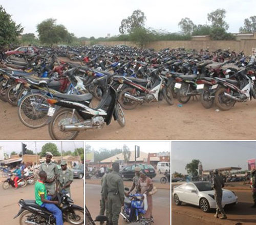 Lutte contre l'incivisme en circulation: 3850 engins à deux roues, 224 tricycles et 202 automobiles saisis