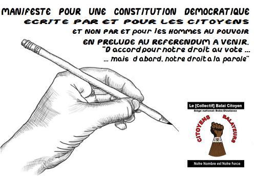 Passage à la cinquième république: Le manifeste pour une constitution démocratique du Collectif Balai Citoyen