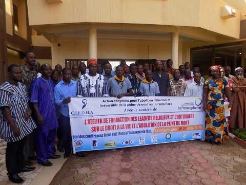 Problématique de l'abolition de la peine de mort: Le CIFDHA forme des leaders religieux et coutumiers