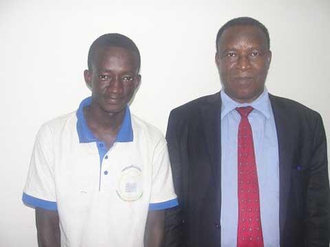 Baccalauréat 2016: le meilleur bachelier reçu par le ministre Filiga Michel Sawadogo