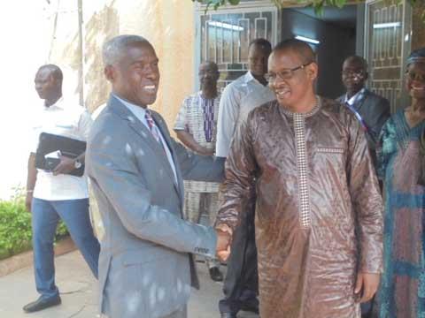 Commission électorale nationale indépendante: L'ambassadeur Tulinabo Mushingi a rencontré la nouvelle équipe
