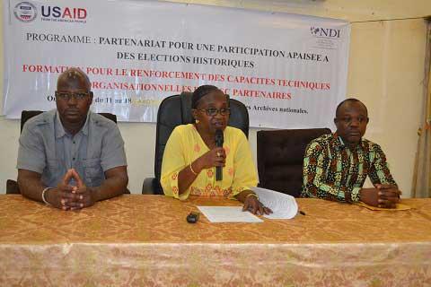 «L'engagement citoyen, ce n'est pas seulement les élections, c'est au-delà ...», exhorte la directrice du NDI-Burkina