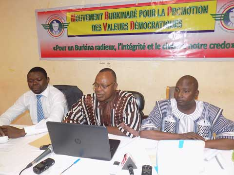 Mouvement burkinabè pour la promotion des valeurs démocratiques (MB- PVD): Le nouveau venu sur la scène des organisations de la société civile