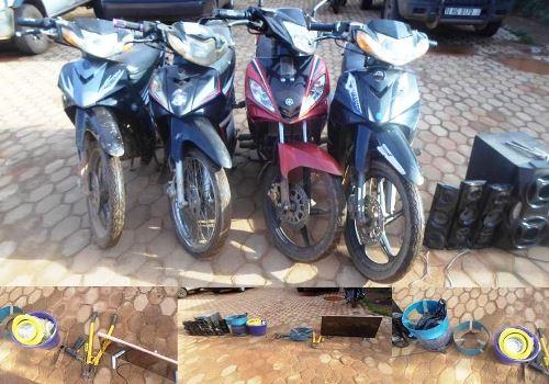 Insécurité: La police nationale a demantelé un gang qui opérait sous la pluie