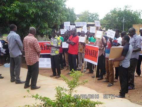 Sit-in du SYNATIC: Forte mobilisation des Journalistes du Sud-ouest