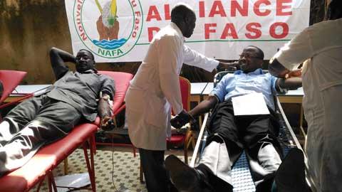 Nouvelle Alliance du Faso: Au moins 1000 poches de sang pour sauver des vies
