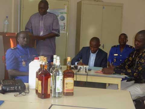 Bobo-Dioulasso: 3339 bouteilles de «VIEUX MENTHOS» saisies