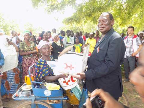 Commune de Komsilga: La Croix-Rouge burkinabè au secours de victimes d'inondations
