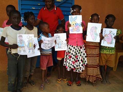 Des enfants de la commune rurale de Saaba à l'école de l'hygiène
