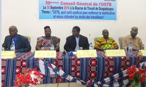 Union syndicale des travailleurs du Burkina Faso: Le Bureau exécutif national tient son 50e conseil général