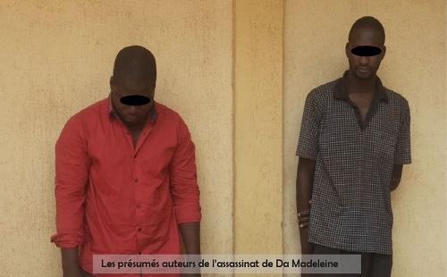 Les présumés auteurs de l'assassinat de Da Madeleine aux arrêts