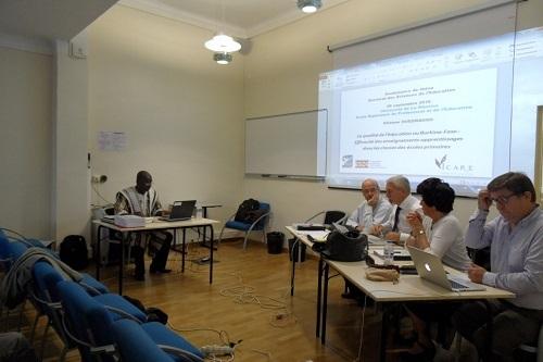 Soutenance de thèse: Etienne Ouédraogo décrypte la qualité de l'enseignement à l'école primaire