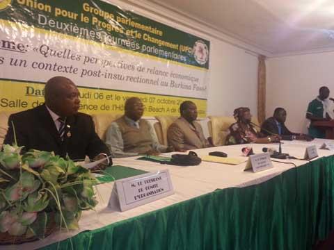 Situation nationale: Le groupe parlementaire UPC réfléchit à la relance économique au Burkina