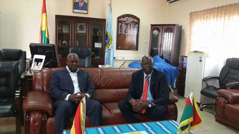 Audience du Président ghanéen: Salifou Diallo reçu par John Dramani Mahama
