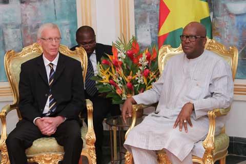 Coopération: Bo Forsberg, le  président de Diakonia Stockholm était chez le président du Faso