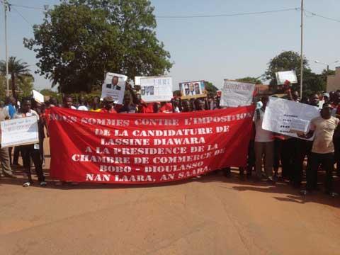 Elections consulaires: Des commerçants de Bobo-Dioulasso disent non à la candidature de Lassina Diawara de MABUCIG