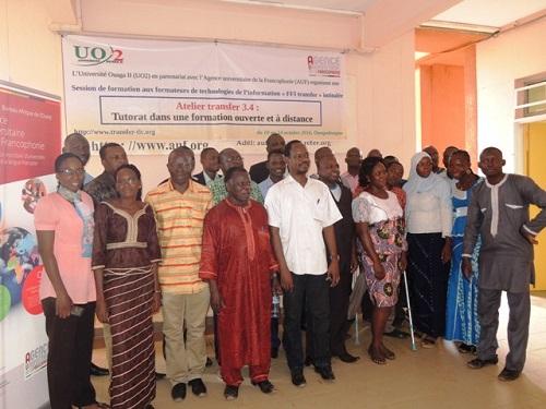 Formation ouverte et à distance: L'Agence universitaire de la Francophonie outille 20 enseignants de l'Université Ouaga 2
