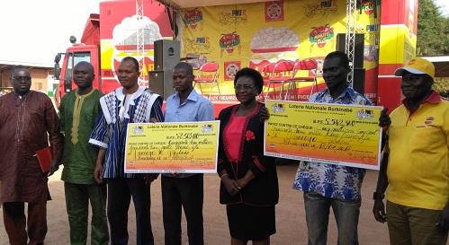 Koudougou: La Loterie nationale a remis  près de 60 millions à deux gagnants