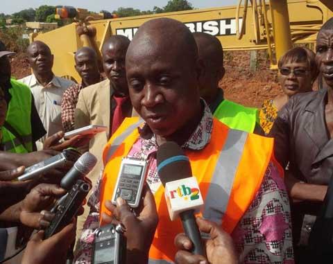 Opération de reprofilage des voies à Bobo-Dioulasso