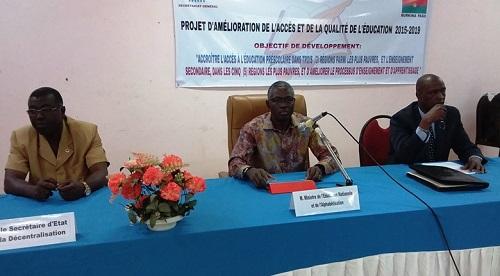Education Nationale: Le PAAQE dévoilé à Ouahigouya