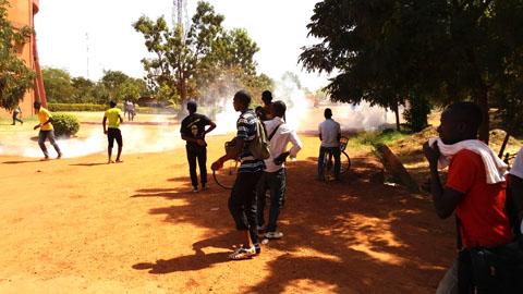 Manifestation à l'Université Ouaga 1: Au moins 5 blessés dans la course poursuite