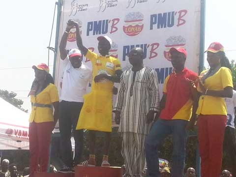 Cyclisme : Harouna Ilboudo maillot jaune du Tour du Faso