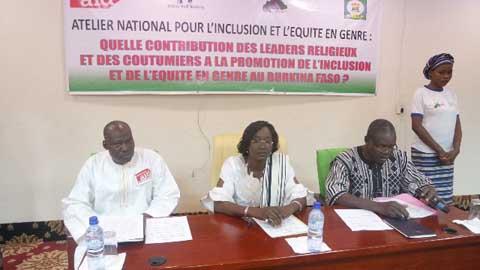Promotion de l'inclusion et équité  en genre au Burkina Faso: Quelle contribution des leaders religieux et des coutumiers?