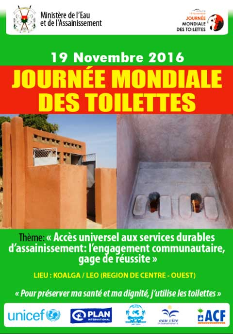 journ e mondiale des toilettes dition 2016 le message du ministre de l eau et de l. Black Bedroom Furniture Sets. Home Design Ideas
