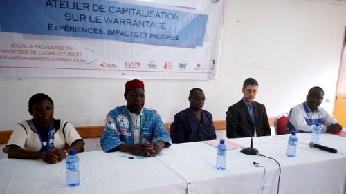 Projet «Partenariat pour un développement durable entre l'Italie et le Burkina Faso»: Bilan et perspectives du warrantage communautaire