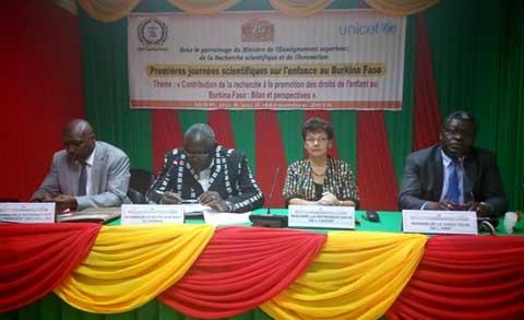 Journées scientifiques sur l'enfance au Burkina Faso: La promotion des droits de l'enfant au cœur de la première édition