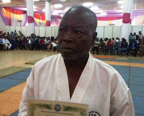 Karaté-Do: Mathieu Ouédraogo, ceinture noire à 73 ans